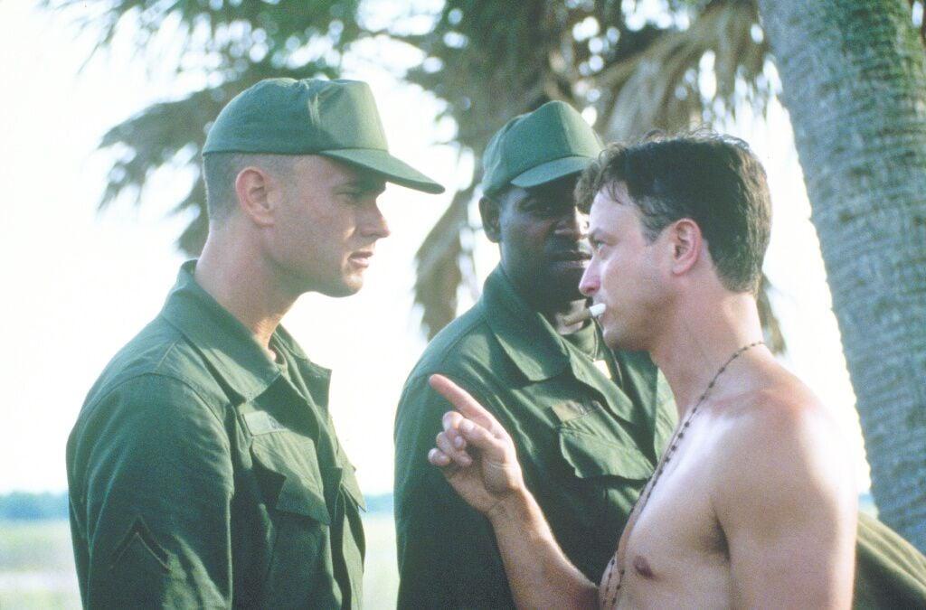 Forrest Gump and Lt. Dan