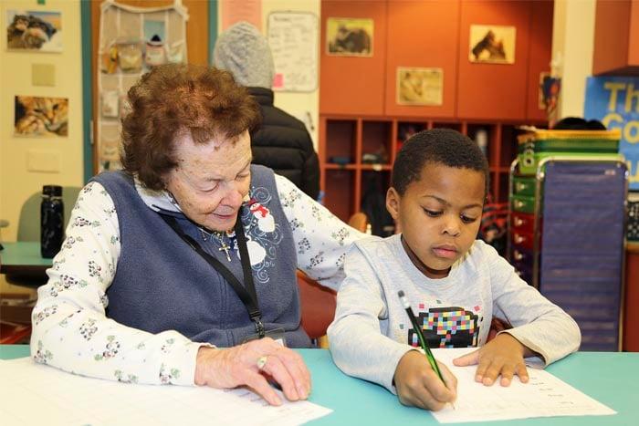 Volunteer grandma