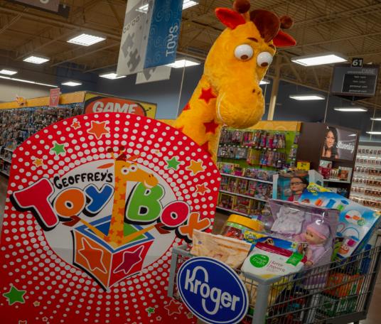 Geoffrey's Toy Box in Kroger grocery store