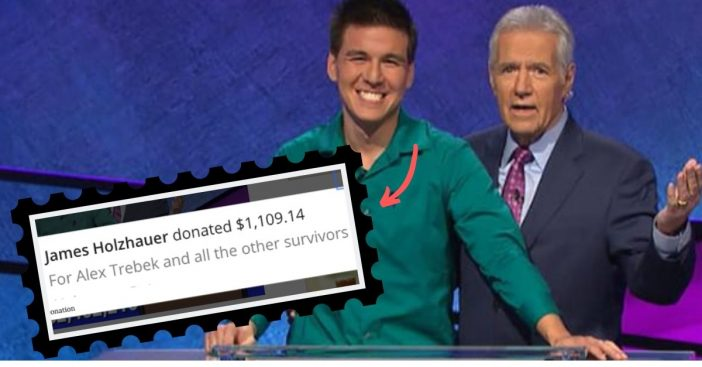 james holzhauer donates to cancer research in alex trebek's name