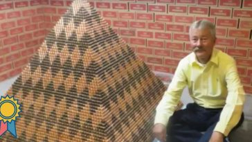 largest pyramid made of pennies