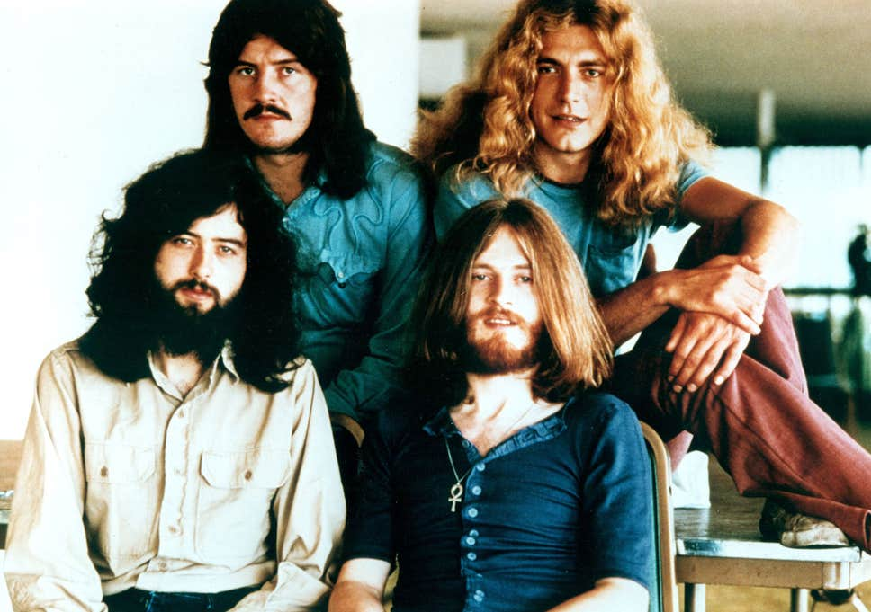 Led Zeppelin in the early 1970s