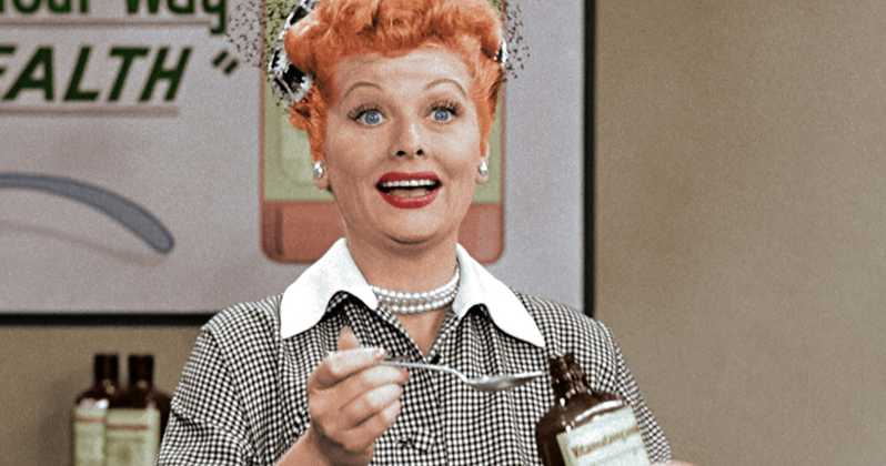 Lucille Ball in I Love Lucy (colorized)