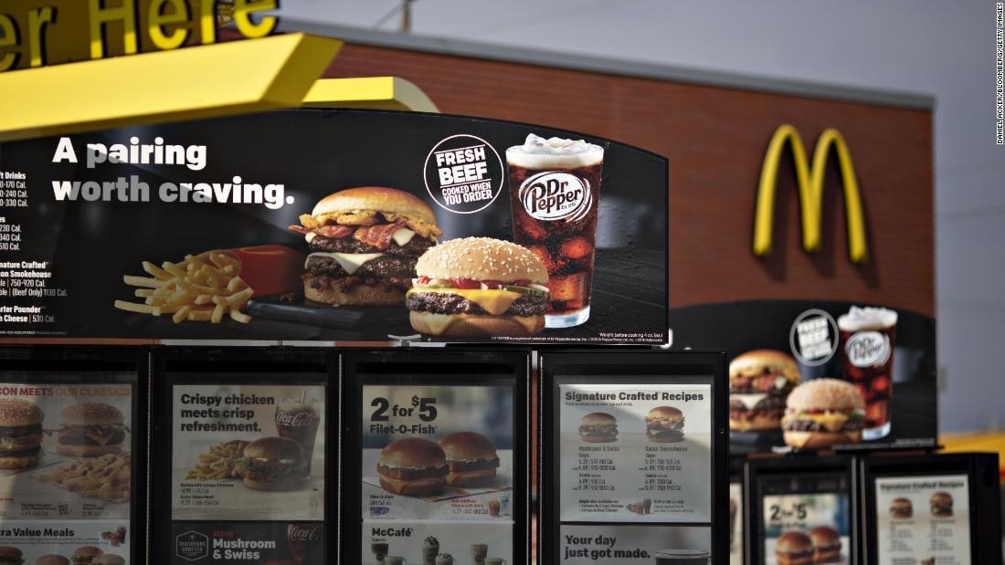 fresh beef on McDonald's menu