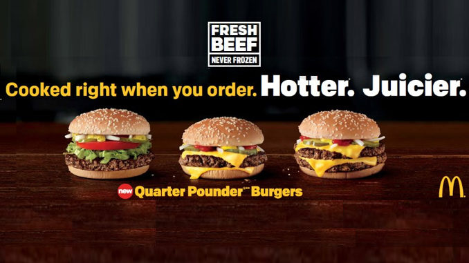 Fresh beef from McDonald's