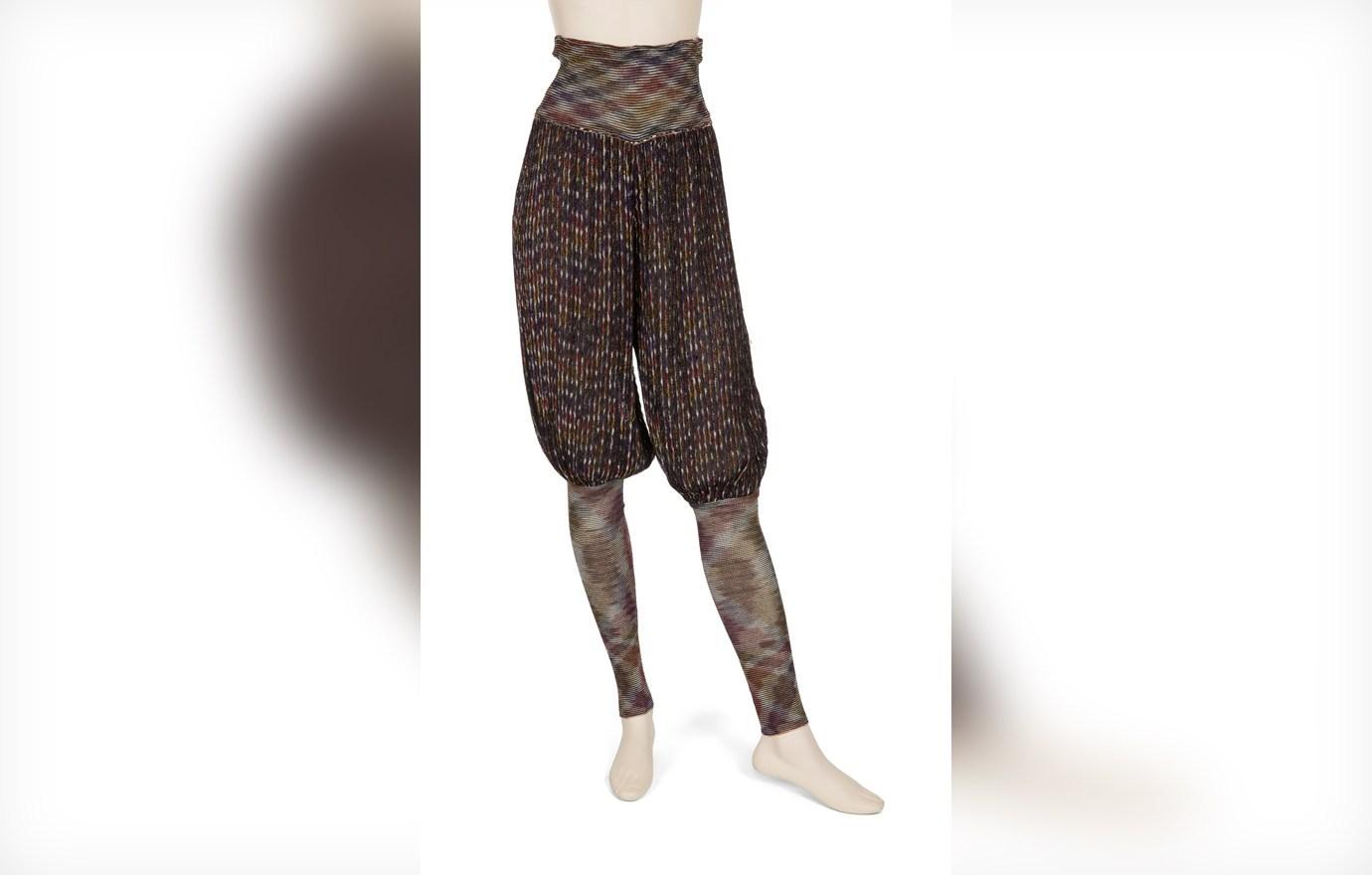 Missoni knit harem pants