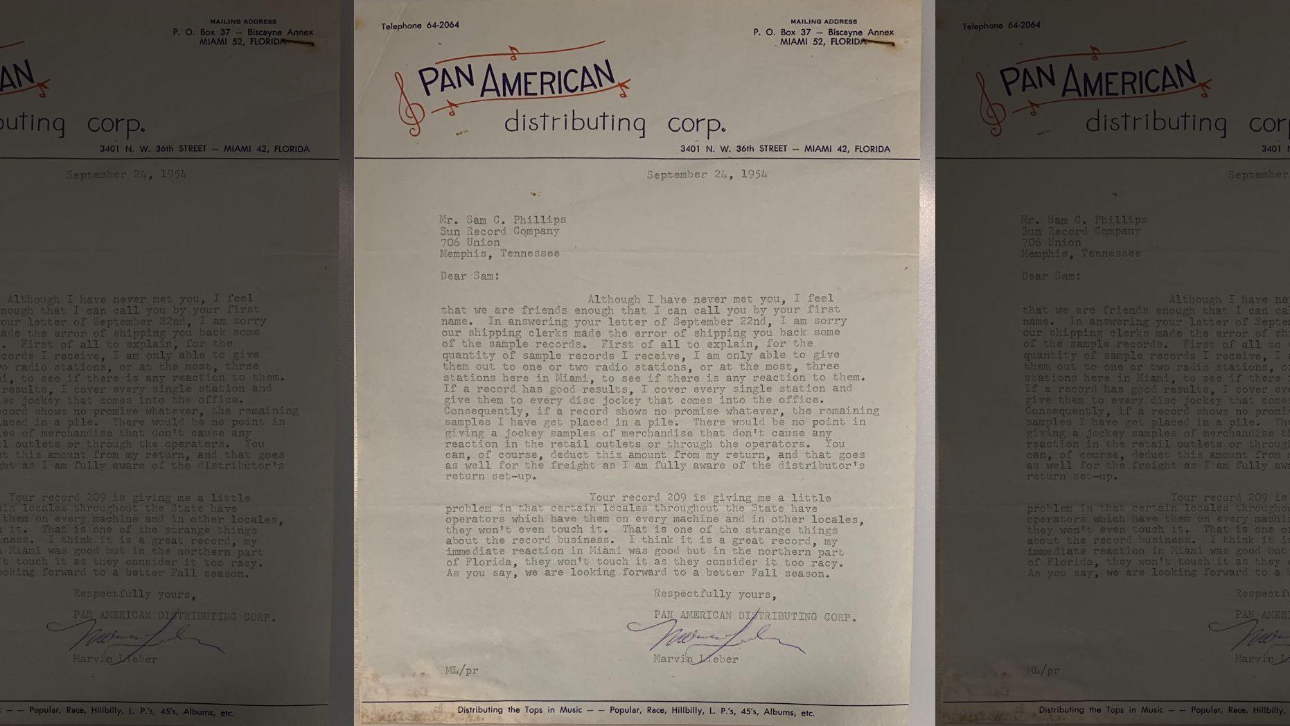 Elvis Presley letters
