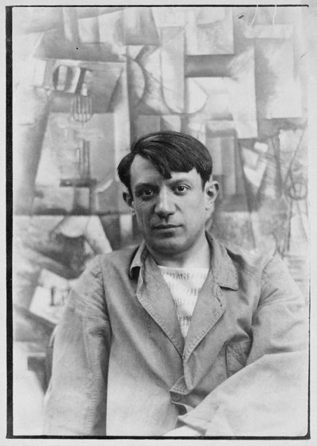Pablo Picasso himself in 1912