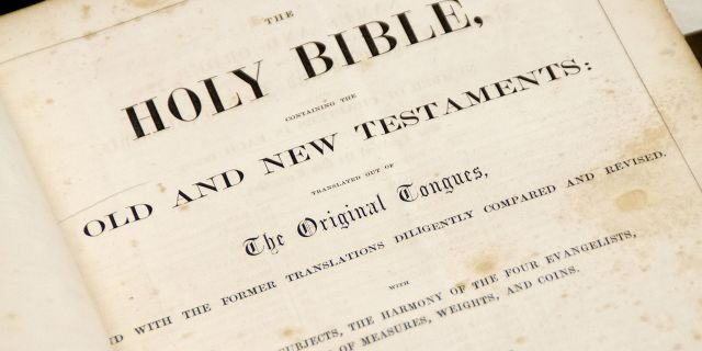 Page from Abraham Lincoln's Bible