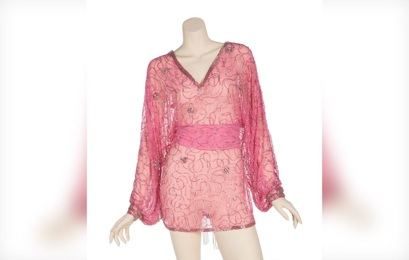 Pink chiffon bodice