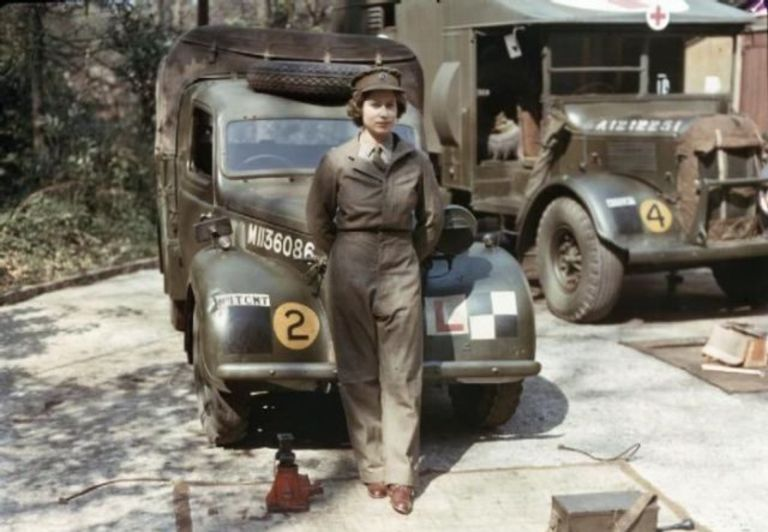Queen Elizabeth II in the army