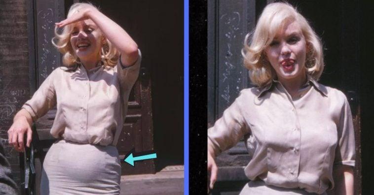 rare photos of an alleged pregnant marilyn monroe