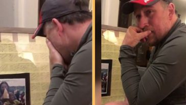 stepdad receives special father's day gift