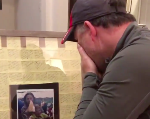 Sophia's stepdad receiving special Father's Day gift