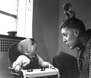 Steven Petrow as a baby with his father in 1958