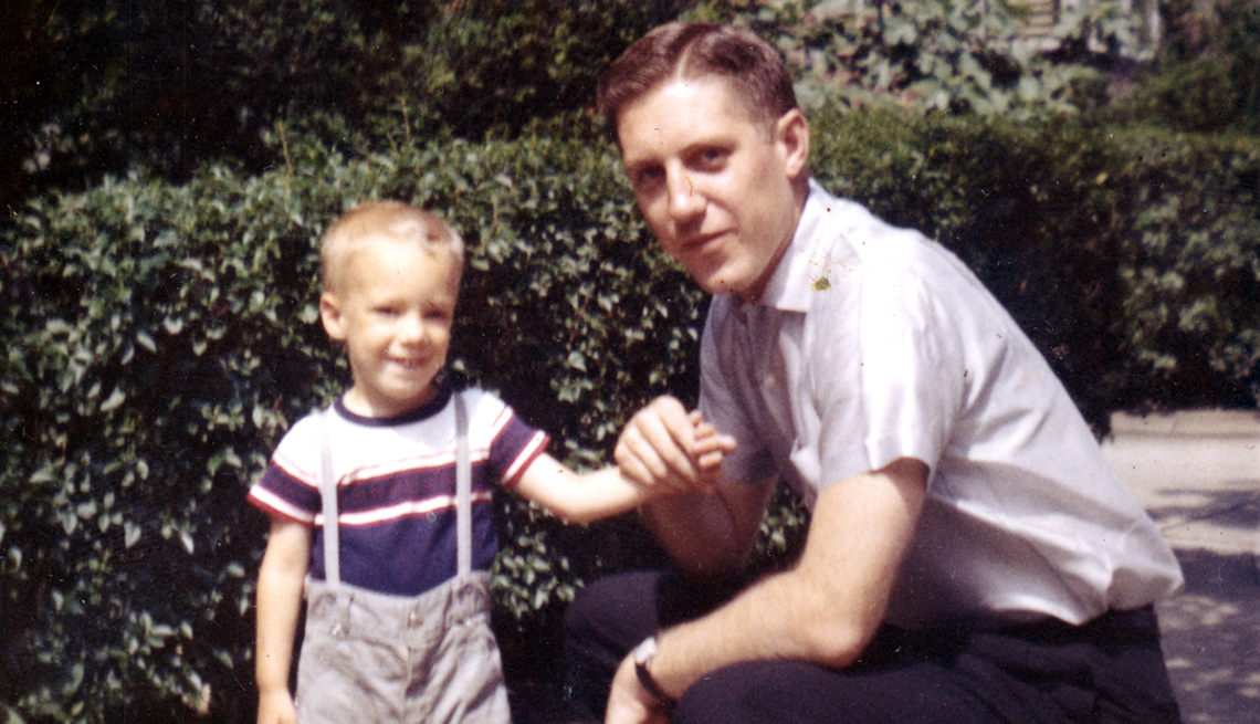 Steven Petrow as a child with his father, Richard Petrow