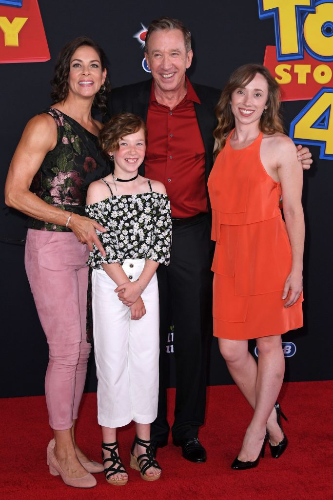 Tim Allen and his family at Toy Story 4 premiere