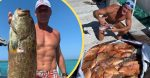 tim mcgraw shows off new fish, fans only see his abs