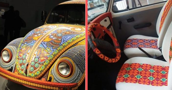 volkswagen bug made out of 2 million beads
