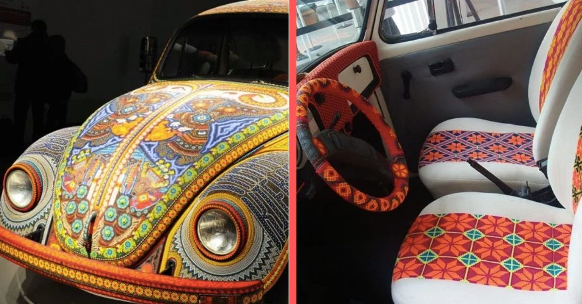 Take A Look At This Gorgeous Volkswagen Bug Made Out Of 2 Million Glass Beads