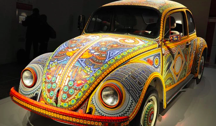 Volkswagen Bug with over 2 million beads