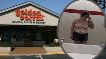 woman asked to leave golden corral for dressing inappropriately