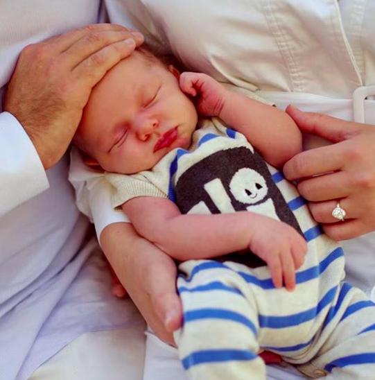 Zak Williams' and Olivia June's newborn son