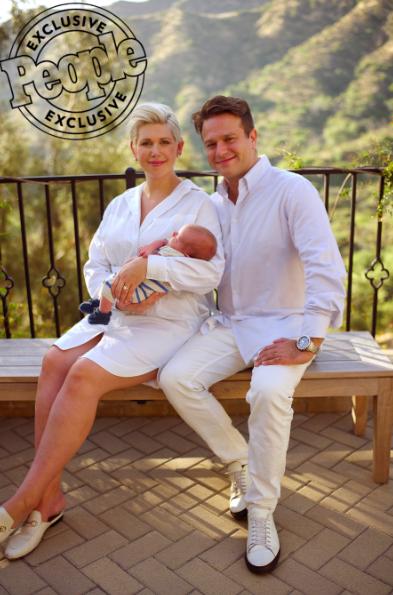 Zak Williams, his newborn son, and Olivia June