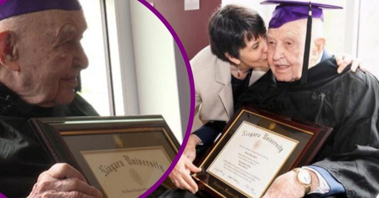 99-Year-Old WWII Veteran Finally Receives College Diploma