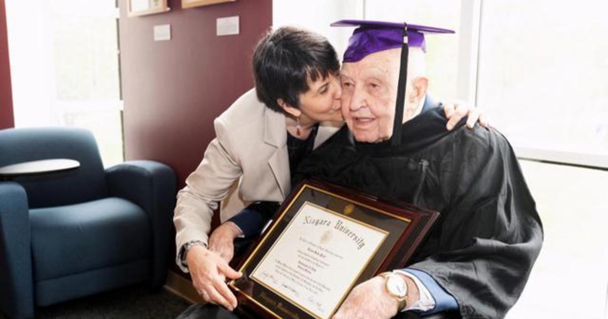 99 year old veteran gets college diploma