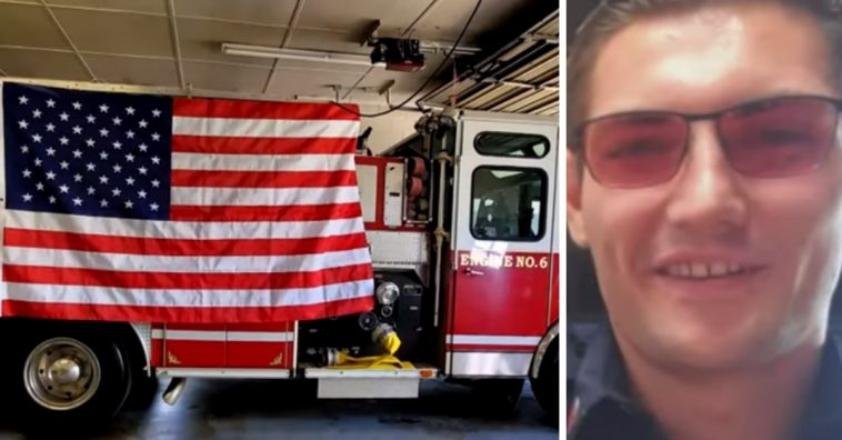 A color blind firefighter teared up at the sight of the American Flag in color