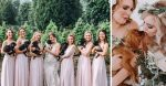 A new wedding trend is for bridal party to carry puppies instead of flower bouquets