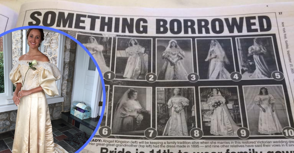 Bride Was The 11th Person To Wear A 120-Year Old Wedding Dress
