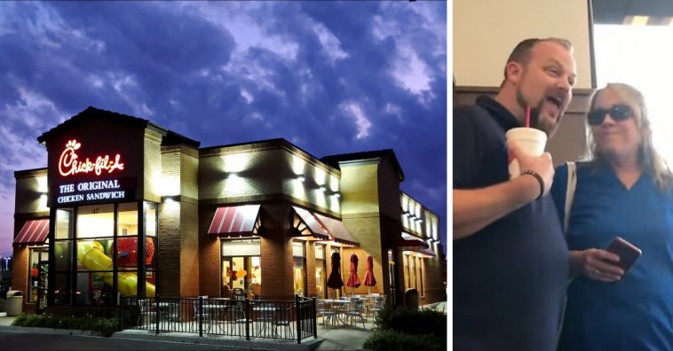 An acapella worship group decided to sing at a Chick-fil-A in a video gone viral