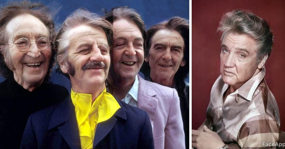 FaceApp Shows Us Photos Of What Elvis Presley & The Beatles Would Look Like Now