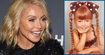 Kelly Ripa Shares Adorable Throwback Photo Of Herself In Pigtails And Bow