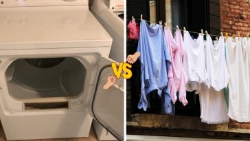 Machine drying versus air drying