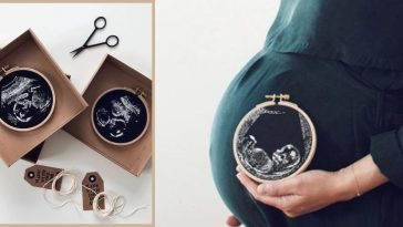 Mom Creates Stunning Embroidered Keepsakes With Ultrasound Photos