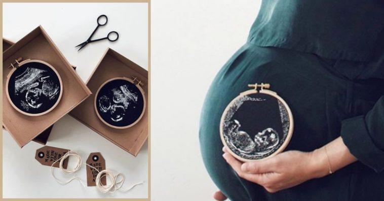 Mom Creates Stunning Embroidered Keepsakes With Ultrasound Photos