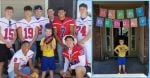 One Person RSVP's To Boy With Autism's Party, An Entire Football Team Shows Up To Celebrate.jpg 2