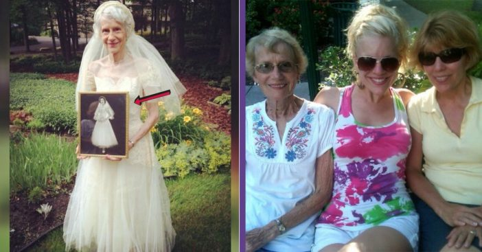 Woman Has Grandmother Put On Her Old Wedding Dress, She Has The Best Reaction