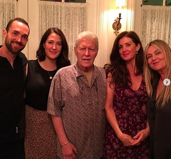alex trebek and family for his birthday