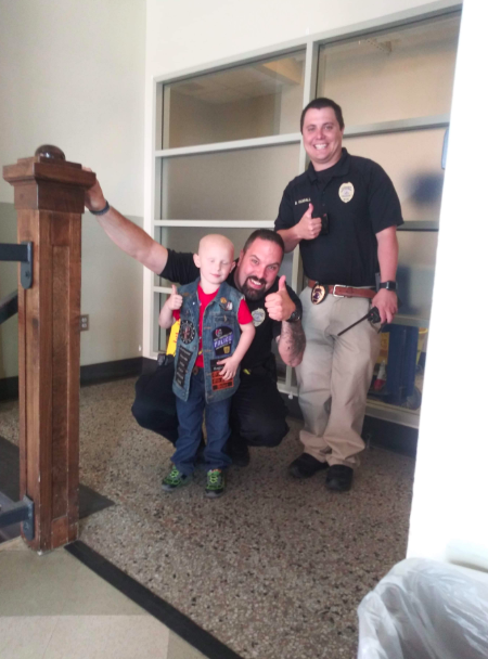 child with cancer becomes honorary first responder
