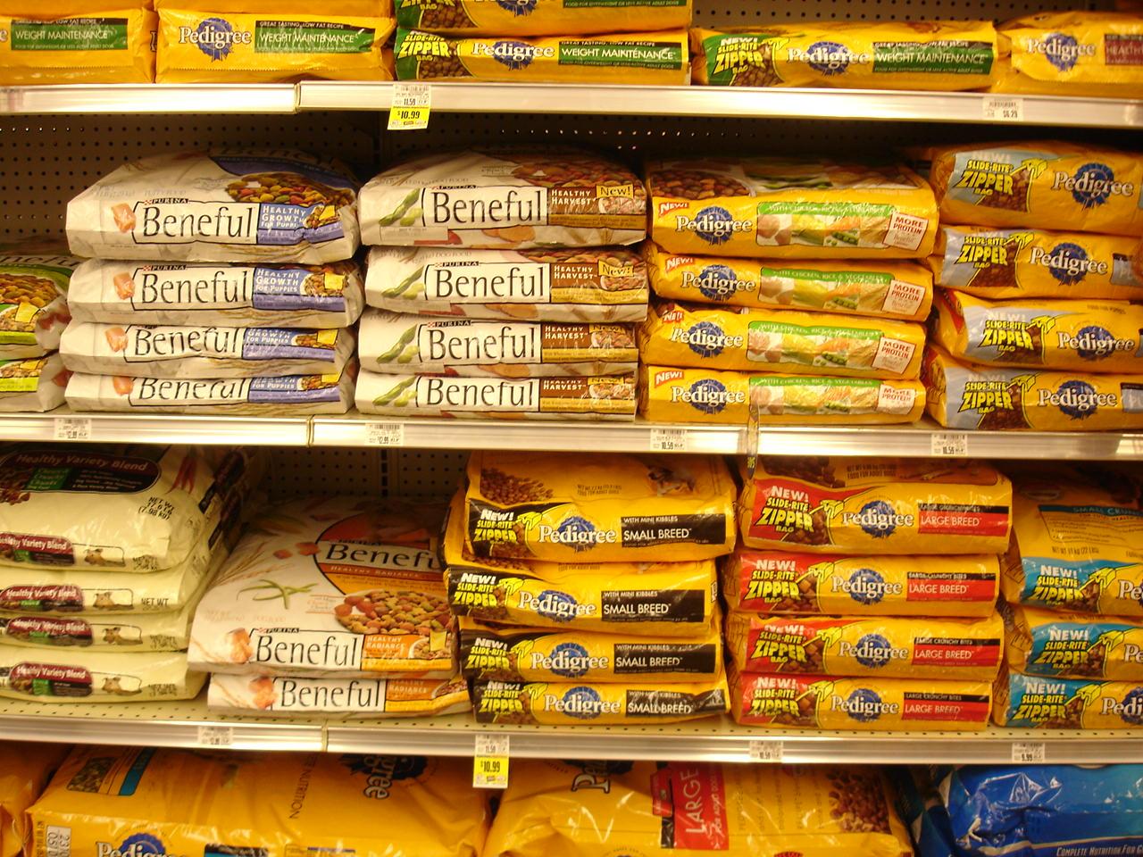 dog food on shelf