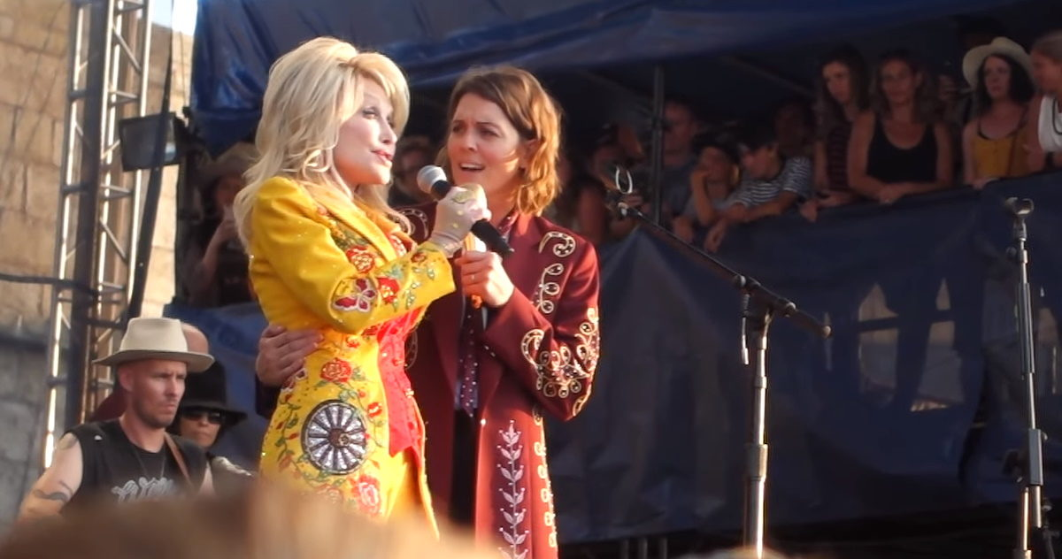 dolly parton linda perry newport folk festival