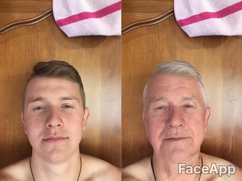 man using faceapp