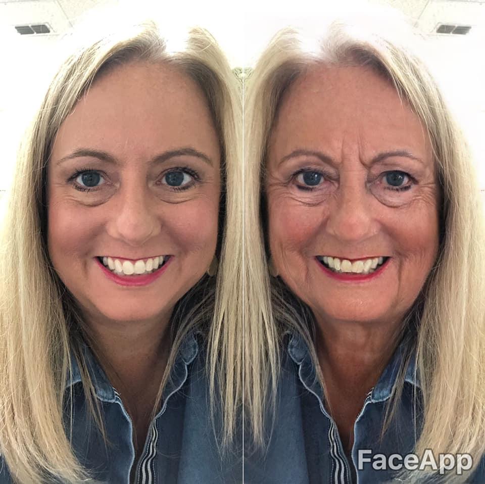 woman using faceapp
