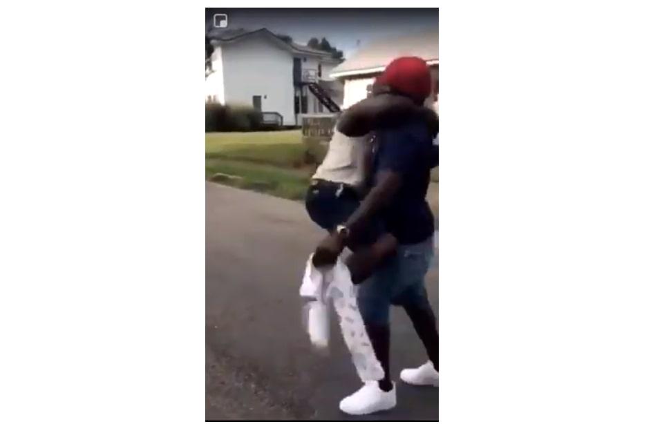 son father hug