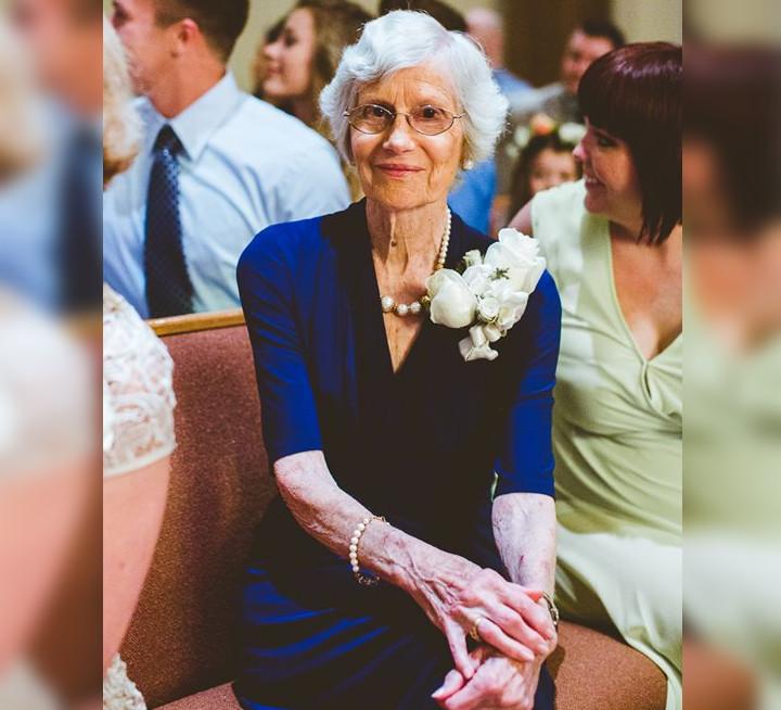 grandma wears wedding dress from 1953
