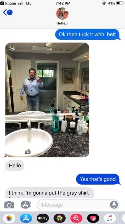 texts between jeff and carli